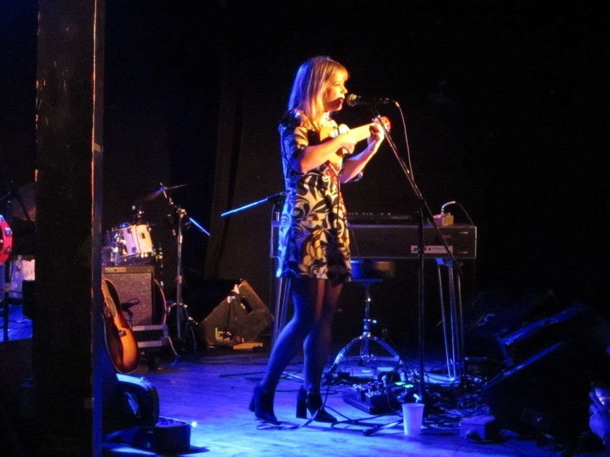Basia Bulat's buttery voice was lovely as always Saturday at the Pop Explosion. - LAURA KENINS