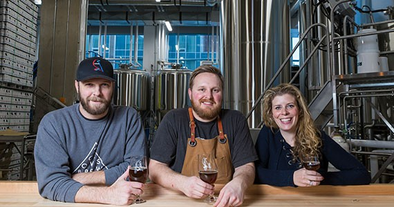 Mark Huizink, Jeremy Taylor and Kelly Huizink are pumped to bring you 2 Crows Brewing. - RACHEL MCGRATH