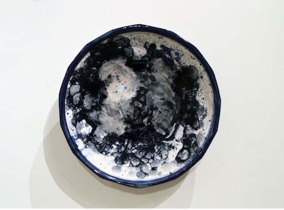 Kaashif Ghanie uses ceramics like canvas at his Craig Gallery show (see 10). - COURTESY OF CRAIG GALLERY