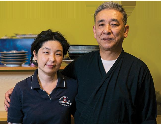 Sushi Shige's owners Aya and Shige Fukuyama. - NXN PHOTOGRAPHY