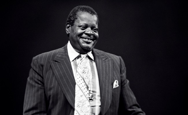 Portrait photograph of Oscar Peterson, taken in New York in 1977. - TOM MARCELLO WEBSTER, VIA WIKIPEDIA
