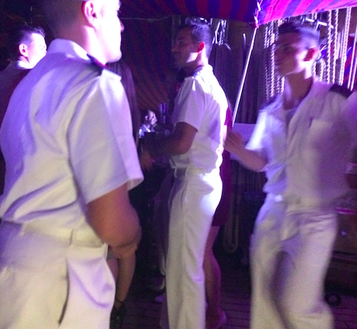 Vespucci sailors dancing during their party. - CHRISTY SOMOS