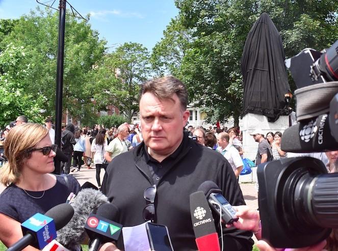 Mayor Mike Savage addresses media. - THE COAST