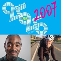 Councillor Lindell Smith and Halifax Cycling Coalition executive director Kelsey Lane.
