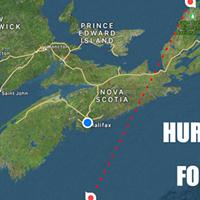 Hurricane Teddy bears down on Nova Scotia