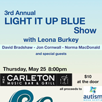 Light It Up Blue: Benefit for Autism Nova Scotia feat. Leona Burkey, David Bradshaw, Jon Cornwall