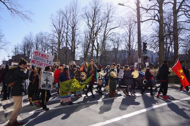 500 march in Halifax in support of Wet'suwet'en