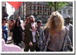 Undead hustle Even zombies love parades, it seems. photo Megan Wennberg