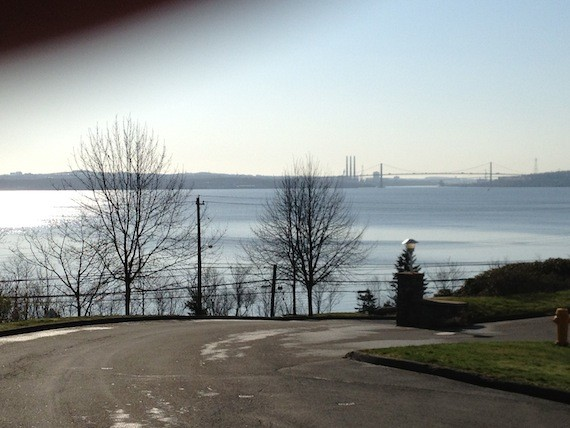 View of the MacKay Bridge from the former Princes Lodge Motel property.