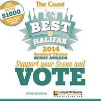 Vote in the Best of Halifax Readers' Choice Music Awards!