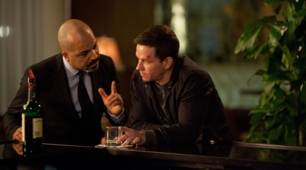Wahlberg has a drink in Broken City