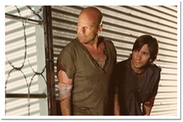 Yippee ki yay Bruce Willis and Justin Long are ready to roll in Live Free or Die Hard.
