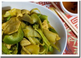 Zing-a-ling Curry chicken serves up a plate of tender meat and vegetables.photo Rob Fournier