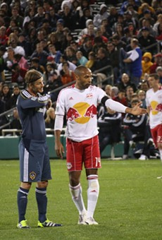 As part of the four night 2012 Desert Diamond Cup, the New York Red Bulls defeated the LA Galaxy 2-1 February 29th.