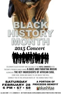 CLUB CONGRESS - Black History Month Concert Poster
