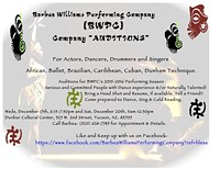 BWPC Upcoming Auditions 2015 Season