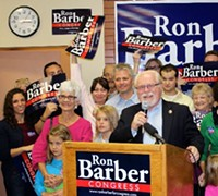 "JIM NINTZEL - Congressman Ron Barber: ""We have many important decisions to make, and in order to make those decisions and do what's right, we have to find compromise, and we have to find bipartisanship."""