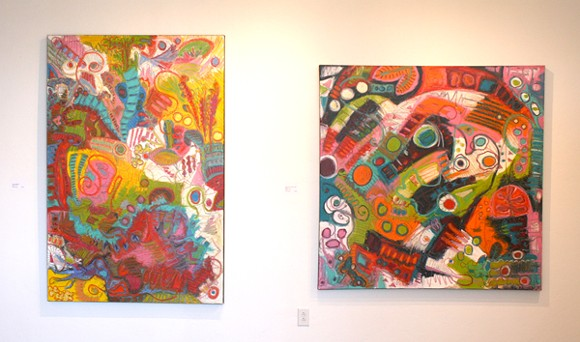Ferst says his abstract works tell as story. - HEATHER HOCH