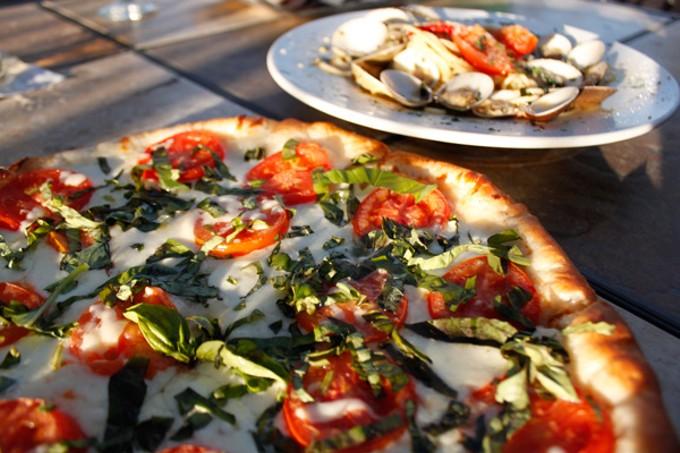 Fresco mozzarella basil pizza at Prince Pizza and Family Restaurant.