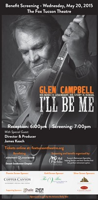"PRESENTED BY OLD PUEBLO PLACEMENT SERVICES - Glenn Campbell ""I'LL BE ME"" benefit screening"