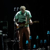 Bon Iver, TCC Arena, April 23rd, 2012 Grammy winner, Kanye West pal and subject of Twitter confusion, Bon Iver, performed at the TCC Arena last night as part of Tucson's annual overflow of Coachella acts. C. Elliott