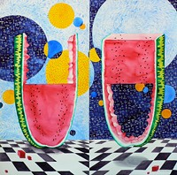"""Hal Empty Half Full"" by Catharine Kim Woodin"