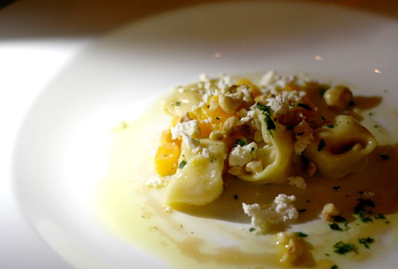 Handmade tortellini and butternut squash paired nicely with sweet, rich date syrup. - HEATHER HOCH