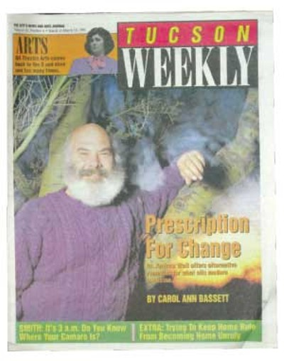 If Andrew Weil sounds like some kind of New Age nut, he's not. He's a Harvard-educated medical doctor, assistant director of the University of Arizona's Division of Social Perspectives in Medicine and the author of five books on alternative healing and consciousness-altering drugs, including a national best-seller. -- Carol Ann Bassett, March 10, 1993 - WILLIAM LESCH