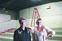 JIM NINTZEL - Jeff Yanc, program director at the Loft, and Peggy Johnson, executive director, stand in the under-construction theater.
