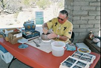 DESERT ARCHAEOLOGY CENTER - John Guerin demonstrates traditional Native American pottery making techniques - at Vista del Rio.