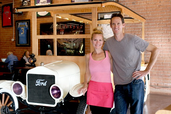 Kristel and Dominic Johnson put their love of classic cars into their business. - HEATHER HOCH