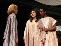 Left to right: Nikisha McFall, Perla Barraza and Andre Johnson