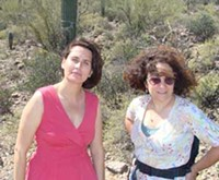 """MARI HERRERAS - Lissa Gibbs, left, with Judith Meyer of Tucson Mountains Association: """"How will anyone be able to live here in 50 years without a more coordinated water-use and growth plan? How does sprawl continue to happen?"""""""