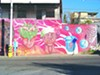 >Luis Diego Amaya Taddei and Guadalupe Serrano worked on this mural with other Nogales artists. Serrano said this mural was completed for a medical exposition—but the images of people without skin now have a different meaning to the people of Nogales.