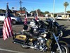Motorcycles are parked outside of University Medical Center. A group of VFW motorcycle riders volunteered to escort the ambulance carrying Rep. Gabrielle Giffords to Davis-Monthan Air Force Base this morning, as she is transferred to a rehabilitation facility in Houston. The congresswoman rode with this group in May 2009, when they escorted the remains of Civil War-era veterans from Tucson to Sierra Vista.