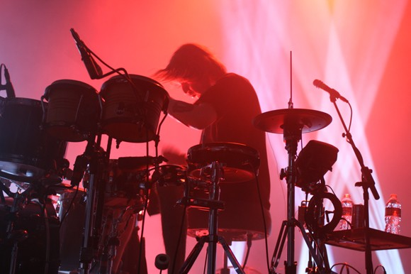 The band's strong percussive presence is exciting to watch and hear live. - HEATHER HOCH