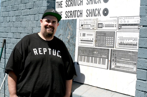 Pike Romero blends live art with live music at his DIY hip hop venue. - HEATHER HOCH