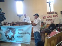 MARI HERRERAS - Retired Southside Presbyterian Rev. John Fife talked about the Oct. 8 incident he witnessed between TPD, Border Patrol and Immigration activist during a press conference.