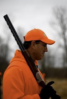 Rick Santorum, pheasant hunting, Adel, Iowa, Dec. 26th, 2011.