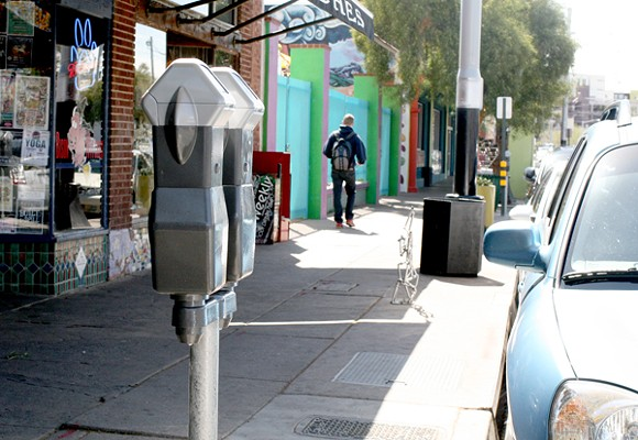 The free parking on Fourth Avenue is disappearing. - HEATHER HOCH