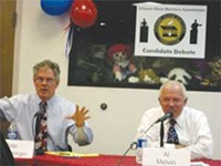 JIM NINTZEL - Senate candidates Pete Hershberger and Al Melvin debate Republican family values.