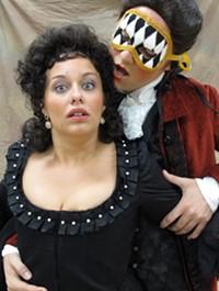 Seth Kershisnik as Don Giovanni - and Jenny Beauregard as Donna Anna