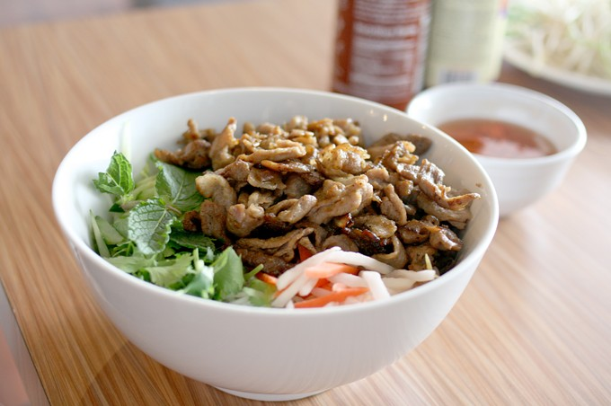 """The bun cha at Cali Grill might be called """"noodle dish"""" but it tastes like the real deal."""