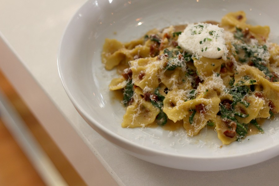 The farfalle is paired with summery flavors. - HEATHER HOCH