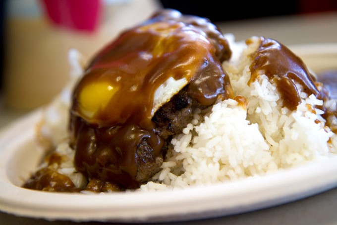 The loco moco at Mama's Hawaiian Barbecue.