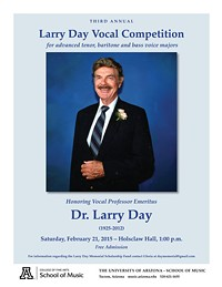 Third Annual Larry Day Vocal Competition