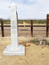 This picture, taken from the Mexican side, shows monument marker 79, near Geronimo Trail, a popular crossing point on the border. Note the clear trail north on the U.S. side.