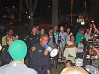 MARI HERRERAS - TPD Chief Roberto Villaseñor delivered Occupy Tucson a message in person: Stay in the park past 10:30 p.m., and get a citation.