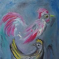 """""""DeGrazia's Chickens"""""""