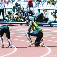 Usain Bolt Trades Track for the Soccer Field